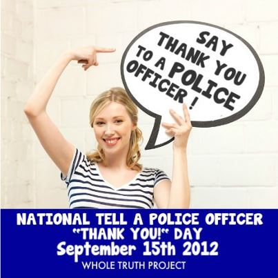 Say Thank You to a Police Officer